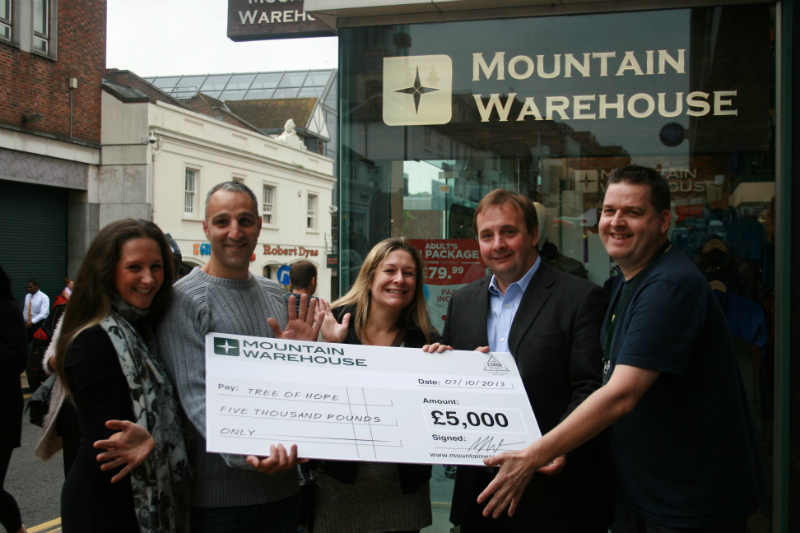 Charity Cheque Handover