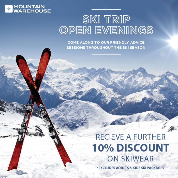 Ski Trip Open Evenings