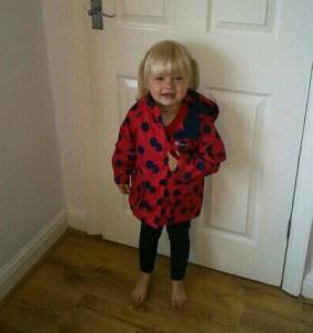 Elsie-May in her Gretel jacket